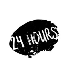 24 hours rubber stamp vector