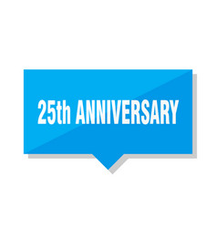 25th anniversary price tag vector