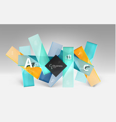 3d geometric abstract background template vector image vector image