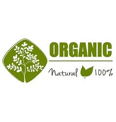 A natural organic label vector