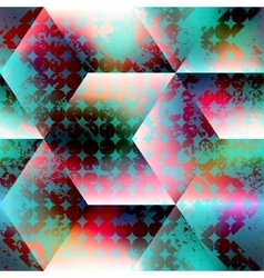 Abstract geometric background with grunge circles vector image
