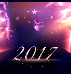 abstract stars background with 2017 new year text vector image