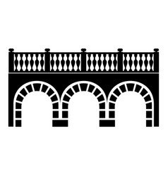 Arch bridge icon simple black style vector