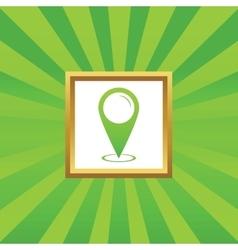Area pointer picture icon vector