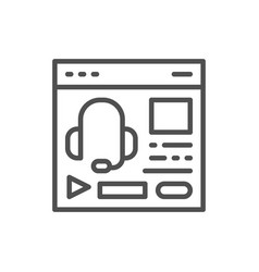 audio course podcast education website web page vector image