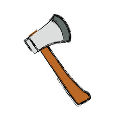 axe fire tool vector image