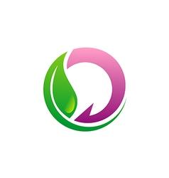 Beauty green leaf eco logo vector
