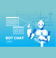 bot chat robot supporter chatbot virtual vector image