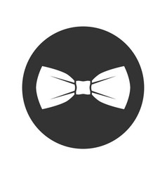 bow white vector image