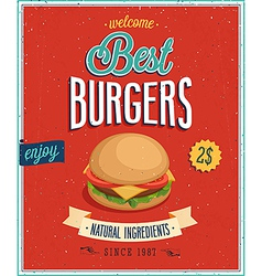 burger2 vector image vector image