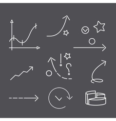 Business graphs and arrows vector image