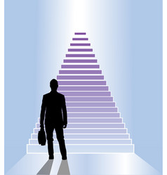 business staircase vector image