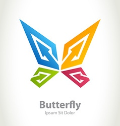 Butterfly beauty logo abstract design concept vector