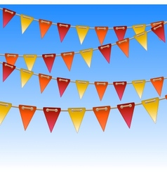 celebration flags on rope vector image