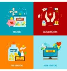 Charity Flat Set vector