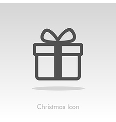 Christmas gift with red ribbon and bow vector image