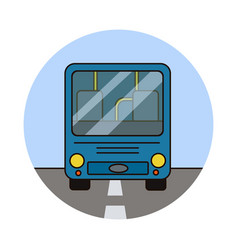 city bus riding vector image