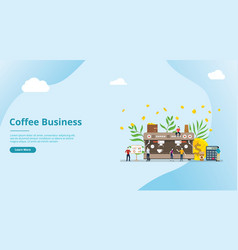 Coffee business concept for website template with vector