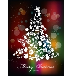 Colorful Background with Christmas Elements vector image
