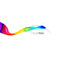 colorful gradient wave of rainbow color on a white vector image