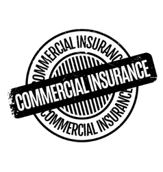 Commercial Insurance rubber stamp vector
