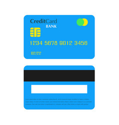 credit bank card payment business debit money vector image