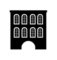 Cute building antique icon vector