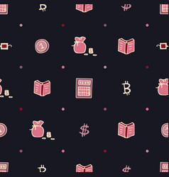 Dark seamless pattern for traders and brokers vector