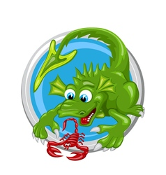 Dragon scorpio zodiac sign vector