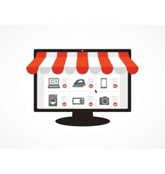 e-shop vector image