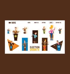 election debate banner male vector image