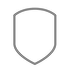 emblem black silhouette and double contour vector image