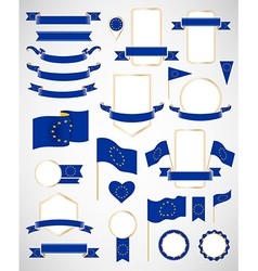 European union flag decoration elements vector
