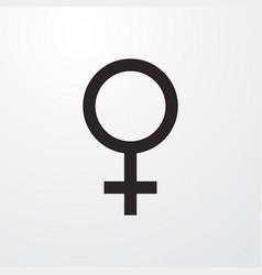 Female gender sign icon gender symbol vector