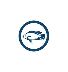 Fish logo template creative symbol of fishing vector