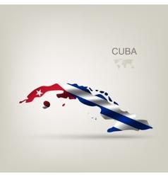 Flag of Cuba as a country vector