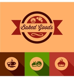 Flat baked goods design vector