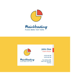 flat pie chart logo and visiting card template vector image