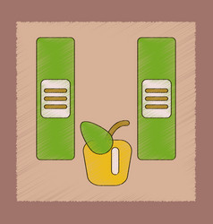 Flat shading style icon folders apple vector