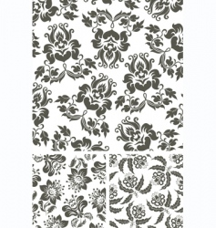 floral background fabric vector image vector image