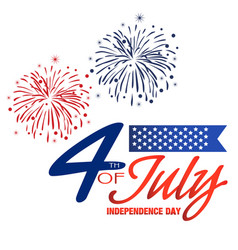 fourth of july independence day fireworks backgrou vector image
