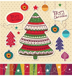 Funky Christmas Card vector