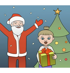 Gift from Santa vector image