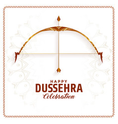 Happy dussehra festival celebration background vector