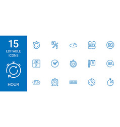 Hour icons vector