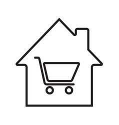 household goods store linear icon vector image