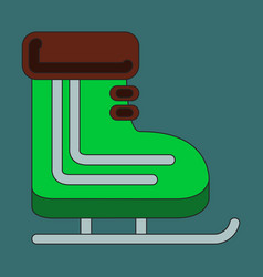 icon in flat design skates vector image