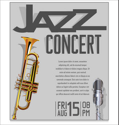 jazz festival background 6 vector image