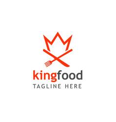 King food logo template design vector