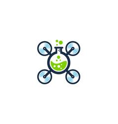 lab drone logo icon design vector image